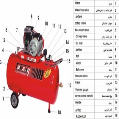 components of piston compressor